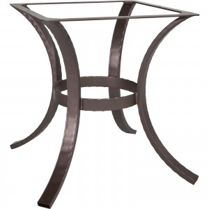 OW Lee Hammered Iron Dining Table Base