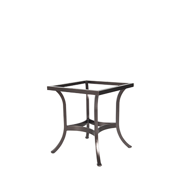 OW Lee Square Tube Aluminum Dining Table Base